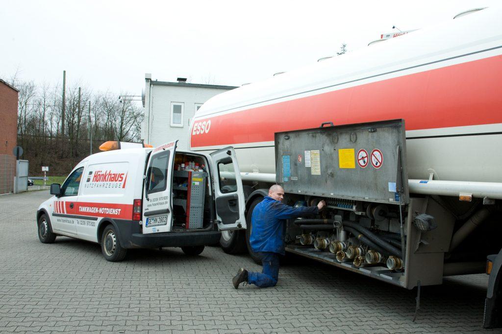 Notdienstfahrzeug Tanktechnik