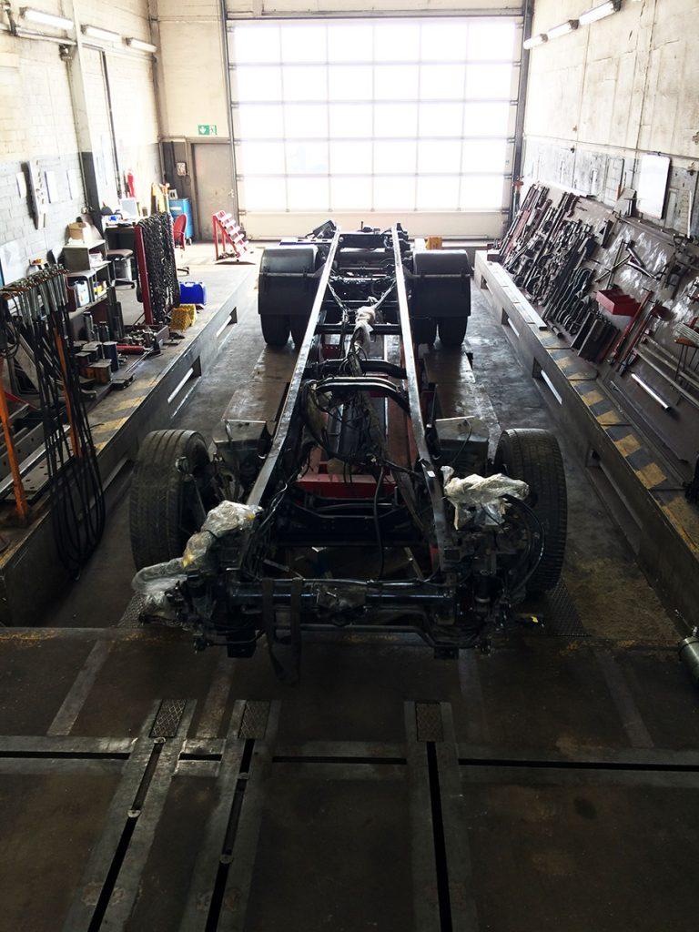 Fahrgestell ist einsatzbereit und kann weiter aufgebaut werden.