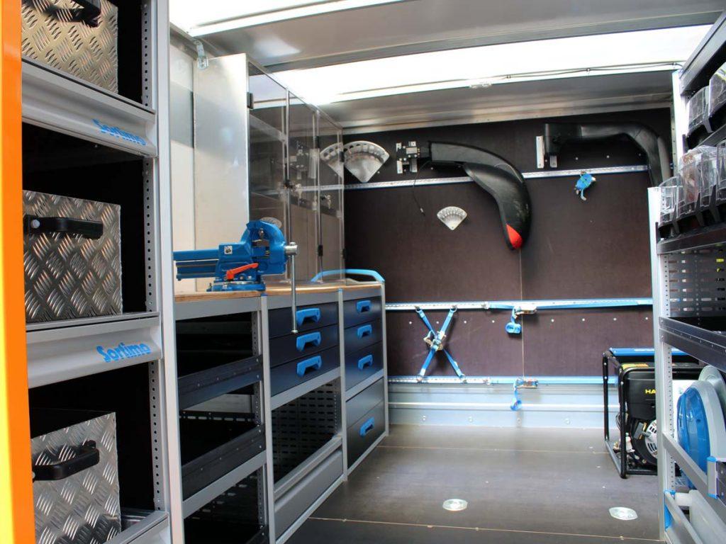 Innenausbau Werkstattwagen